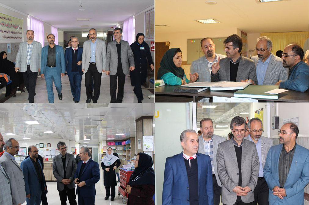 بازدید رئیس دانشگاه علوم پزشکی مازندران از بیمارستان امام خمینی(ره) شهرستان فریدونکنار