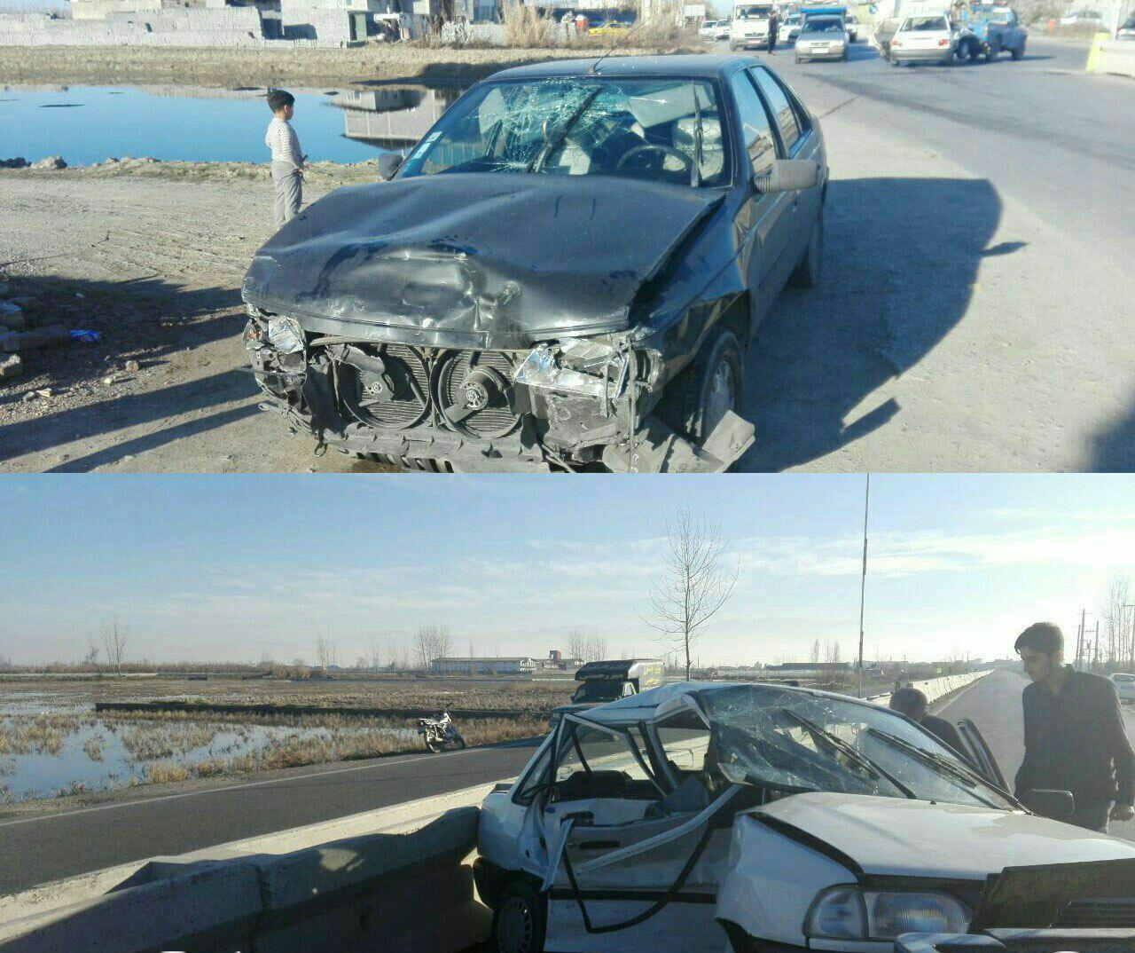 وقوع تصادف خونین با یک کشته و 5 مصدوم / جاده مرگ عروس و داماد مازندرانی را داغدار کرد