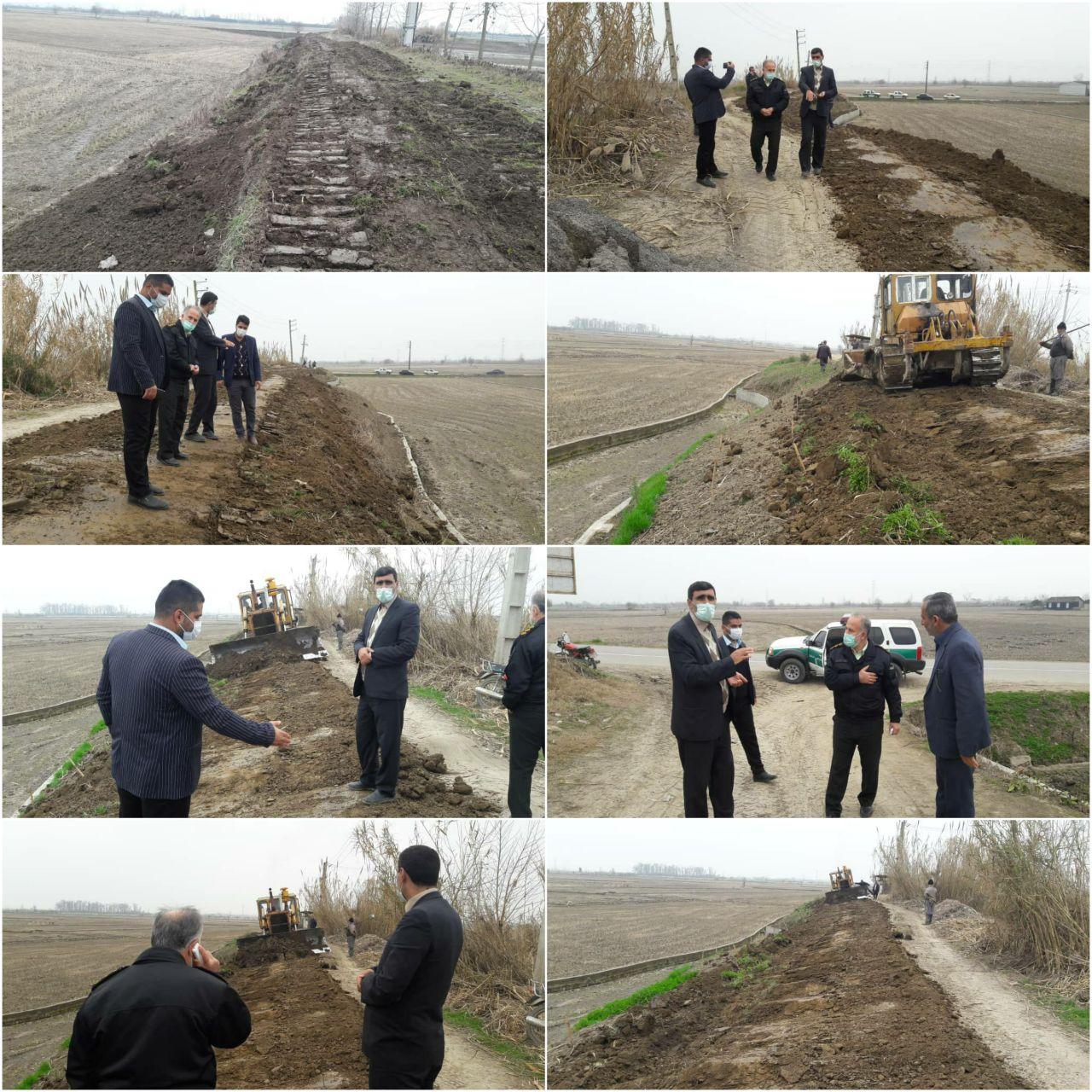 آزاد سازی و رفع تجاوز حریم و یال آببندان روستای حیدرکلا با حکم دادستانی