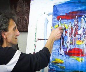 نقاش خودآموخته مازندرانی برگزیده دومین «پروژه هنری خور» شد